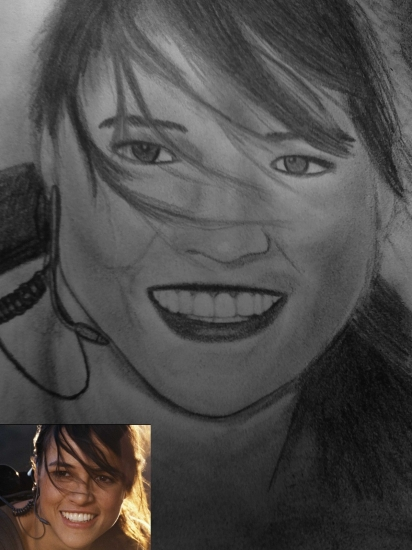 Michelle Rodriguez by Aurianne